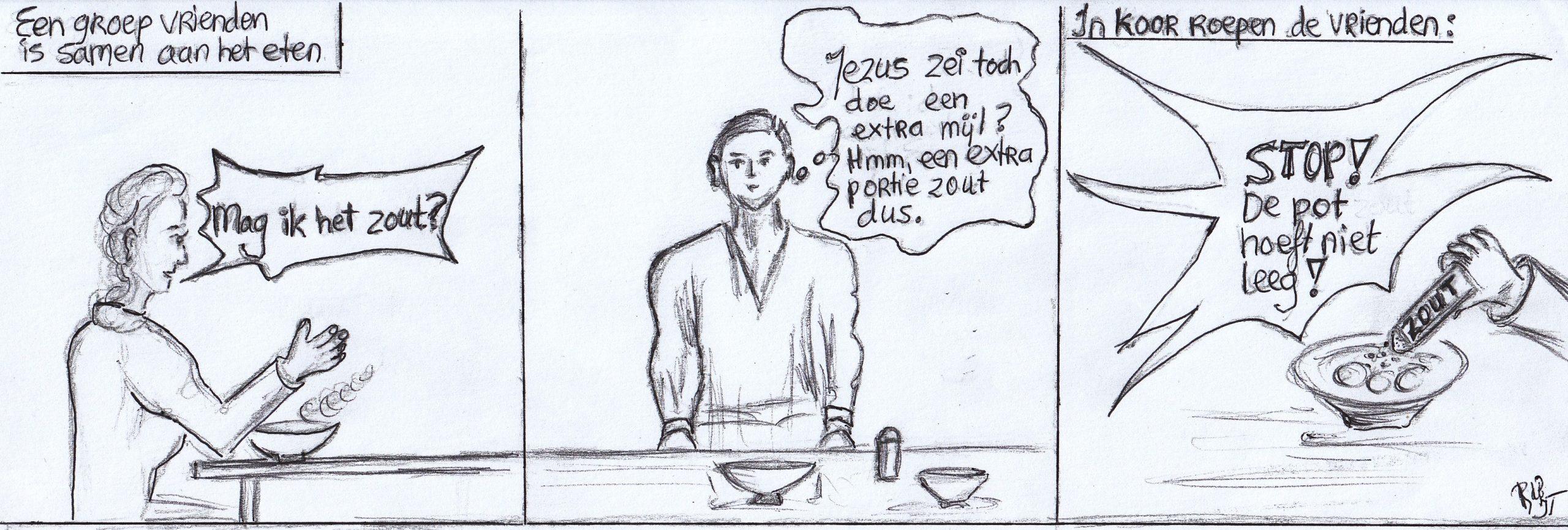 extra mijl, strip door Rosanne de Boer, praktische Bijbelstudie deel 1 door Jurgen Toonen