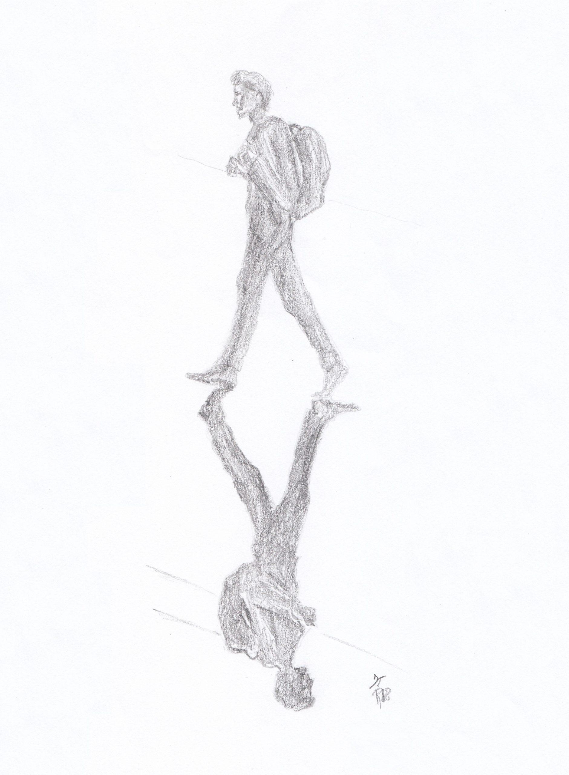 Leaving shadow